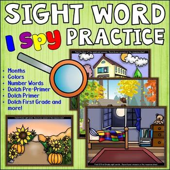 I Spy Vocabulary Practice Centers
