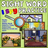 I Spy Sight Words Activities and Centers   Sight Word Practice for K 1st 2nd 3rd