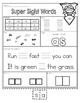 Sight Word (Super) Printables