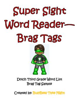 Super Sight Word Reader--Brag Tags