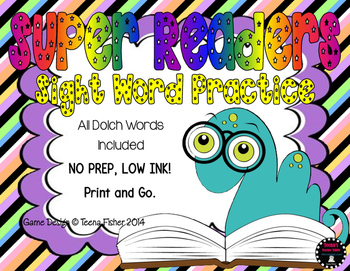 Super Sight Word Reader NO PREP Growing Bundle ALL Dolch words