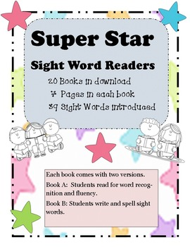 Sight Word Super Star Books Set 1