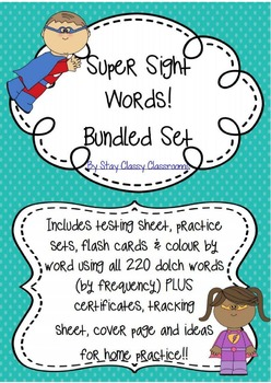 Super Sight Word Sets Bundle - 220 Dolch Words