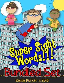 Super Sight Words BUNDLED SET Games, Activities & Center Fun! COMMON CORE