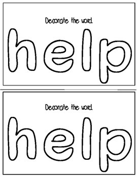Super Sight Words - Help (interactive sight word book)