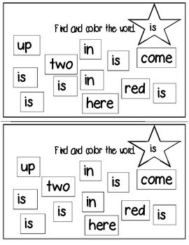 Super Sight Words - Is (interactive sight word book)