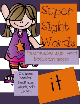 Super Sight Words - It (interactive sight word book)