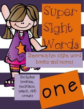 Super Sight Words - One (interactive sight word book)
