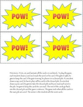 Super Hero Sight Words Pre-Primer