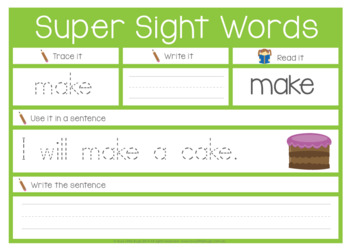 Super Sight Words Pre-Primer