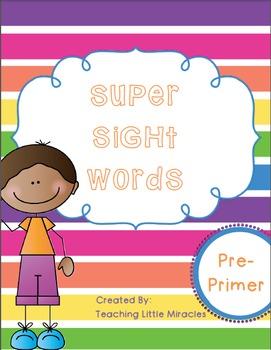 Super Sight Words - Preprimer Pack