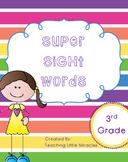 Super Sight Words - Third Grade Pack