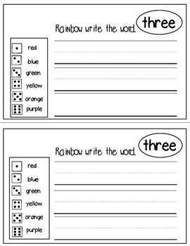 Super Sight Words - Three (interactive sight word book)