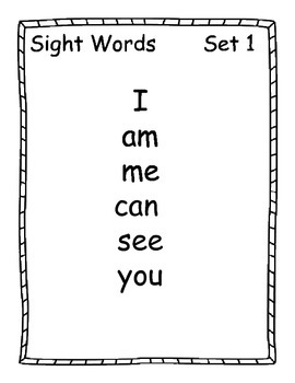 Super Sight Words Unit (Set 1)