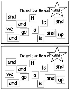 Super Sight Words - and