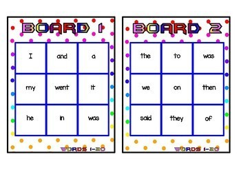 Superhero Themed Oxford Sight Word Game (Words 1-40)