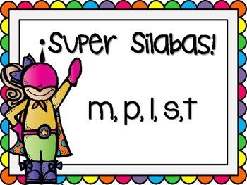 Super Silabas m, p, l, s, t