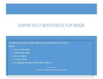 Super Silly Sentences Flip book