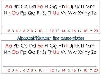 Super Simple Alphabet & Number Line Nameplates