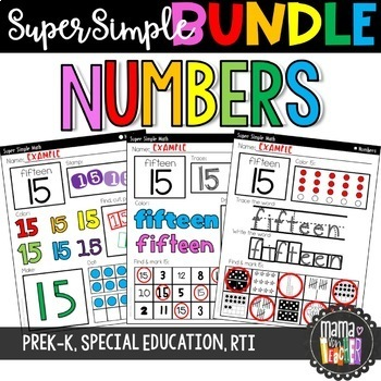Super Simple BUNDLE: Letters, Numbers & Shapes {PreK, Special Education, RTI}