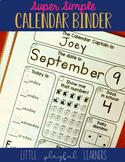 Super Simple Calendar Binder