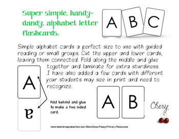 Super Simple Handy-Dandy ALPHABET FLASHCARDS