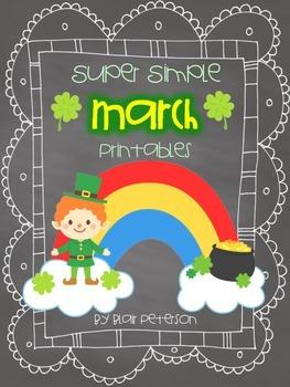 Super Simple March Printables