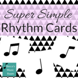 Super Simple No Fluff Rhythm Cards to Print