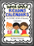 Super Simple Reading Calendars {An ENTIRE YEAR of Reading Calendars}