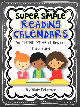 Super Simple Reading Calendars {An ENTIRE YEAR of Reading
