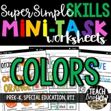 Super Simple Skills: Color Worksheets, NO PREP