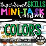 Super Simple Skills: Color Worksheets, NO PREP