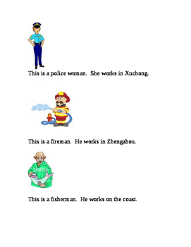 Super Simple Stories for Language Learners:  Occupations