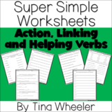 Super Simple Worksheets ~ Grammar ~ Action, Linking, and H