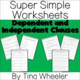 Super Simple Worksheets ~ Grammar ~ Dependent Clauses and