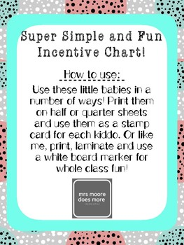 Super Simple and Fun Incentive Chart!