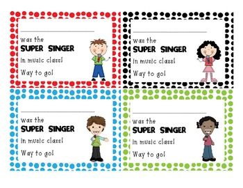 Super Singer positive notes
