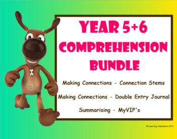 Super Six Comprehension Bundle - Making Connections, Summarising - Year 5+6