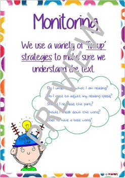 Super Six Comprehension Poster - Monitoring
