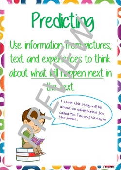 Super Six Comprehension Poster - Predicting