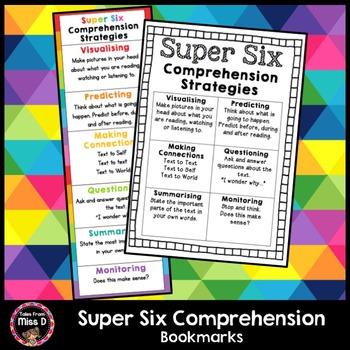 Super Six Comprehension Bookmarks
