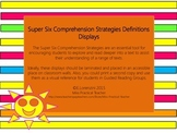 Super Six Comprehension Strategies Definitions Displays an
