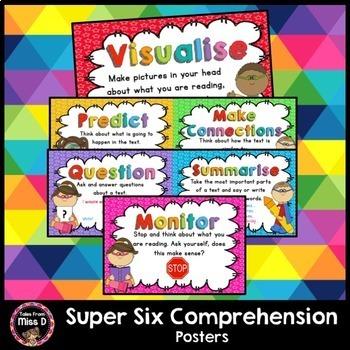 Super Six Comprehension Posters