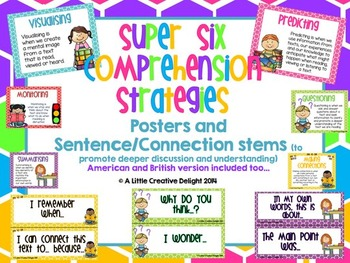 Reading Comprehension posters and stems