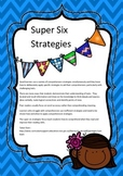 Super Six Comprehension strategy posters free