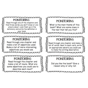 Super Six Reading Activity Task Cards