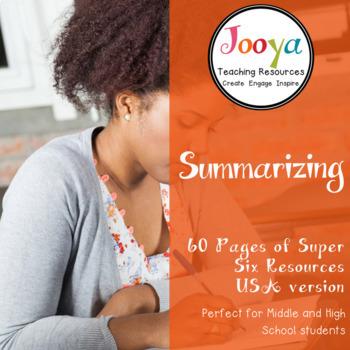 Super Six Reading Strategies - Summarizing - USA SPELLING VERSION