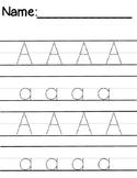 Super Size Alphabet Trace