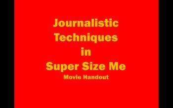 Super Size Me Public Interest Unit Movie Handout