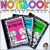 Notebook and Folder Labels | Super Size Label Set | Editable